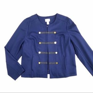Chicos Military Button Jacket